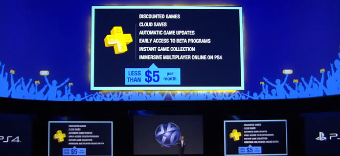 E3 2013 Sony detail upgraded online functions PS Plus for PS4