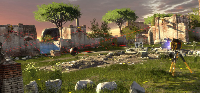 The Talos Principle Hands On Preview Playing with lasers