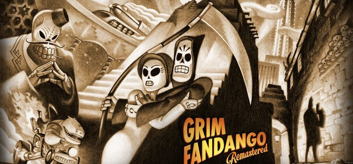 Grim Fandango Remastered Review We soar like eagles on pogo sticks