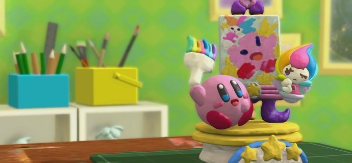 Kirby and the Rainbow Paintbrush Review They see me rollin they clay-tin