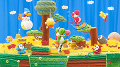 Playing with Poochy in Yoshi's Woolly World