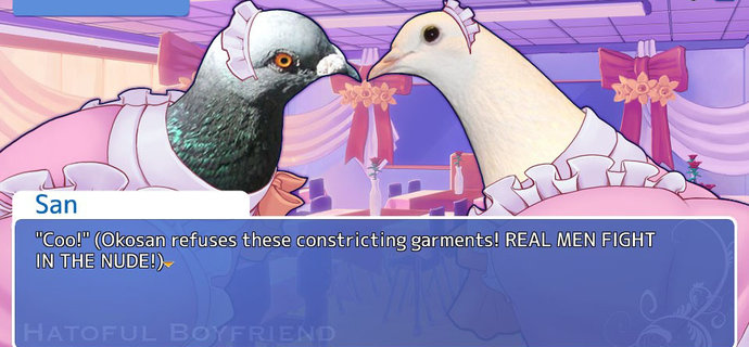 Hatoful Boyfriend Review Hawkward romantic