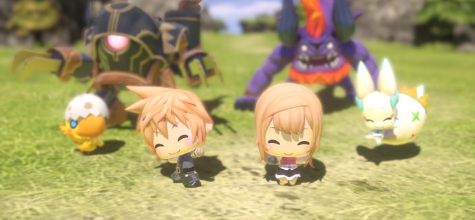 Chibi adventure World of Final Fantasy gets a brand new trailer