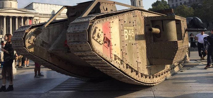 Wargaming park tank in London to launch WW1 modes in World of Tanks on PC console and mobile