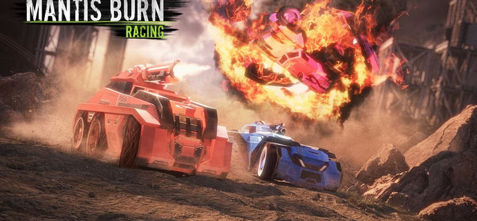 Mantis Burn Racings Battle Cars DLC adds weapons creates carnage