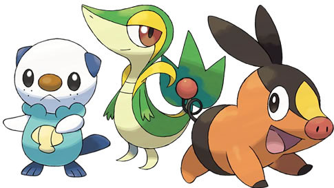 pokemon black and white starters fully. With Pokemon Black and White,