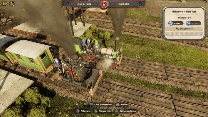 Railway Empire Review: Wild west steam-powered wagons