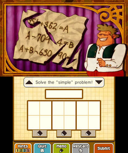 Professor Layton and Miracle Mask Screenshot