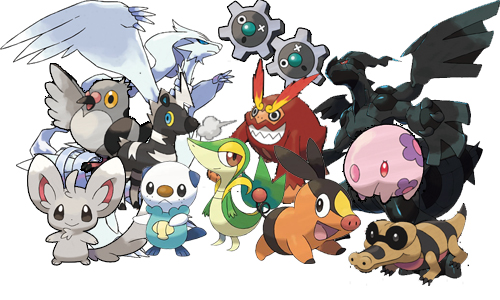 pokemon black and white monkeys.  'mons for Pokémon Black (on the left) and Pokémon White (on the right).